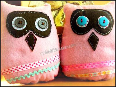 hand made felt owls