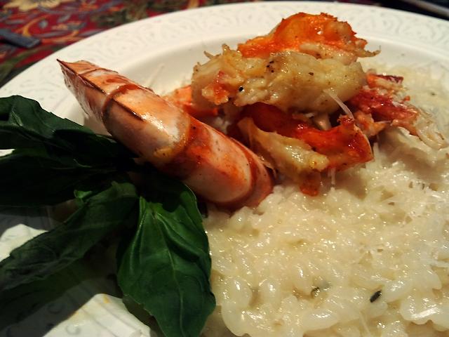 ризотто с крабом креветками морепродуктами итальянская кухня пармезан