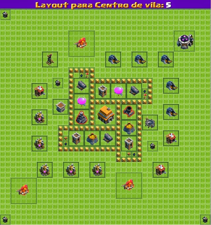 Dicas Clash Of Clans 'LayOuts'