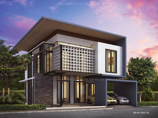 Three story home plans modern style living area 155 sq m for Modern house kits for sale