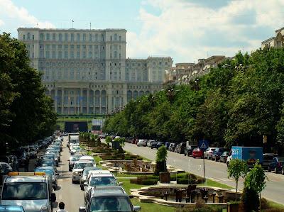 Het volkspaleis Boekarest Roemenie