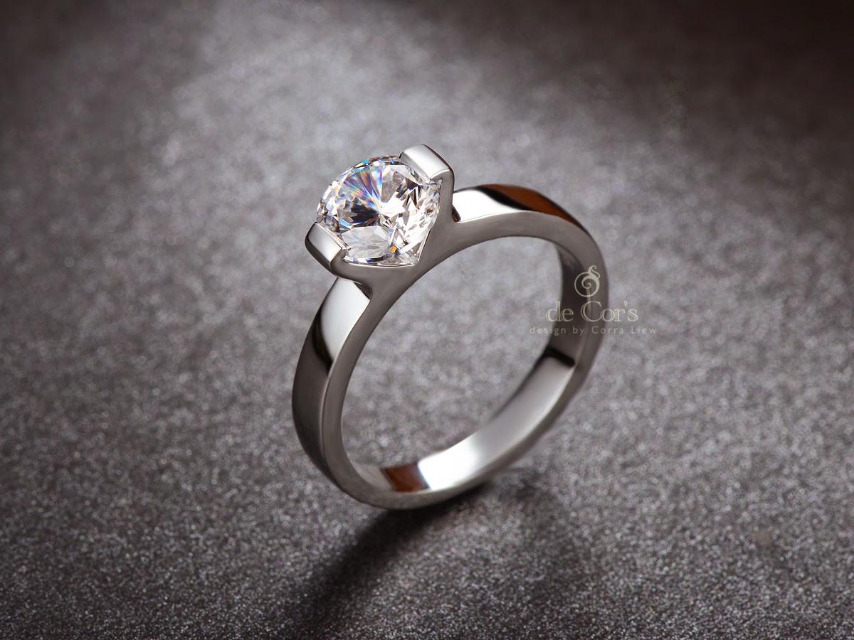 Wedding Ring Simple 14 Marvelous Simple CT SONA Diamond