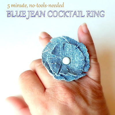 Cómo hacer anillos con tejido vaquero en Recicla Inventa