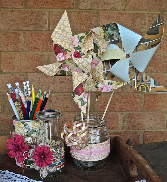 Party decorations by Megan Gourlay using Juilet by BoBunny