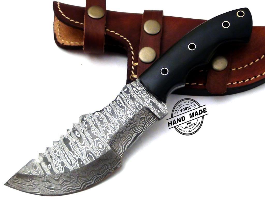 Regular Damascus Tracker Knife Custom Handmade Damascus Steel ...