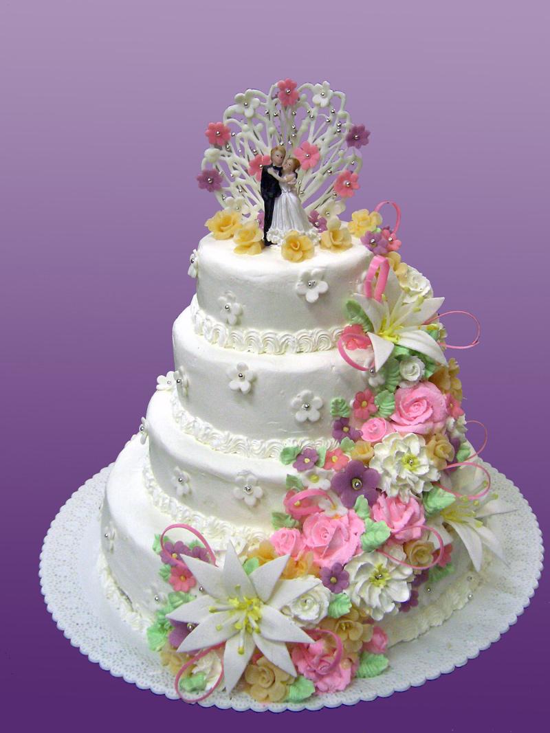 Весільні торти з мастики фото