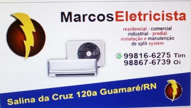 AGORA EM GUAMARÉ A MAIS NOVA ELÉTRICA DE AR-CONDICIONADO. MARCOS ELETRICISTA.