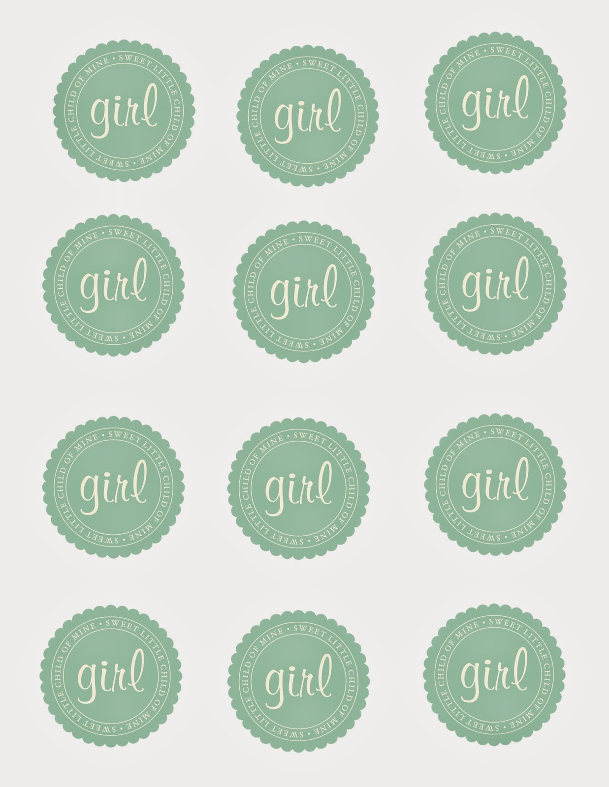 Gender Reveal party, printables, baby, girl