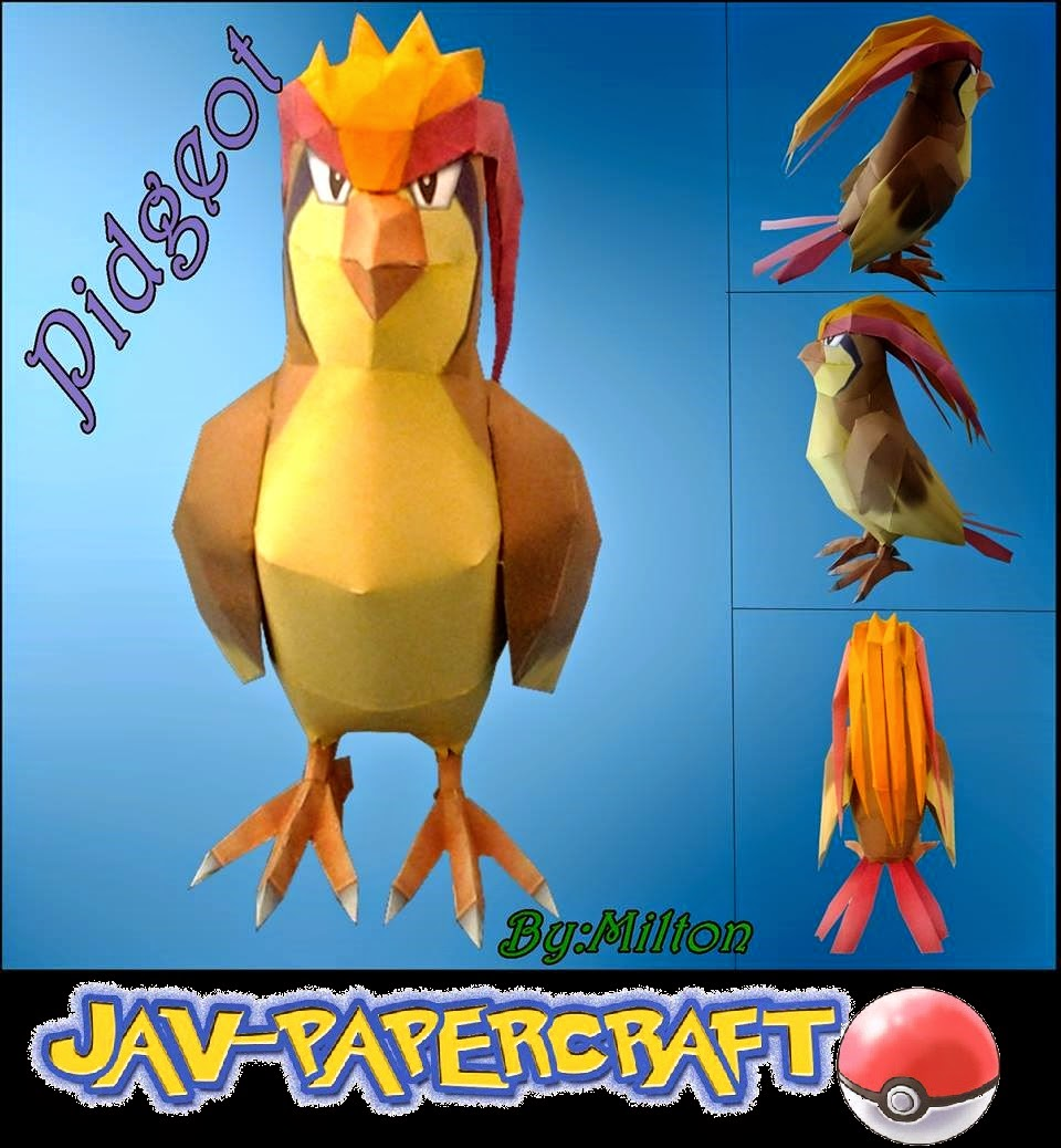 Pokemon Pidgeot Papercraft