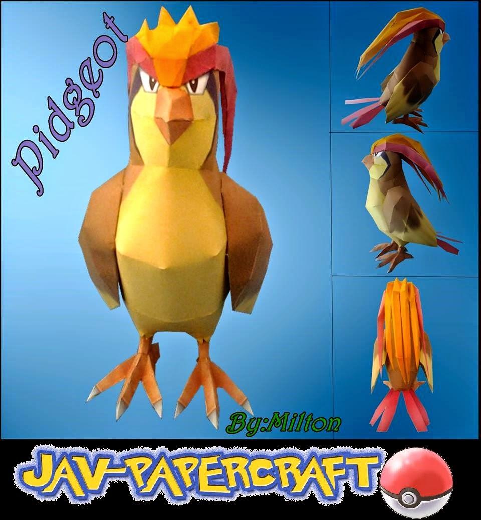 Pokemon Pidgeot Papercraft