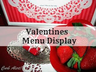 Curb Alert Valentine Framed Doily Menu