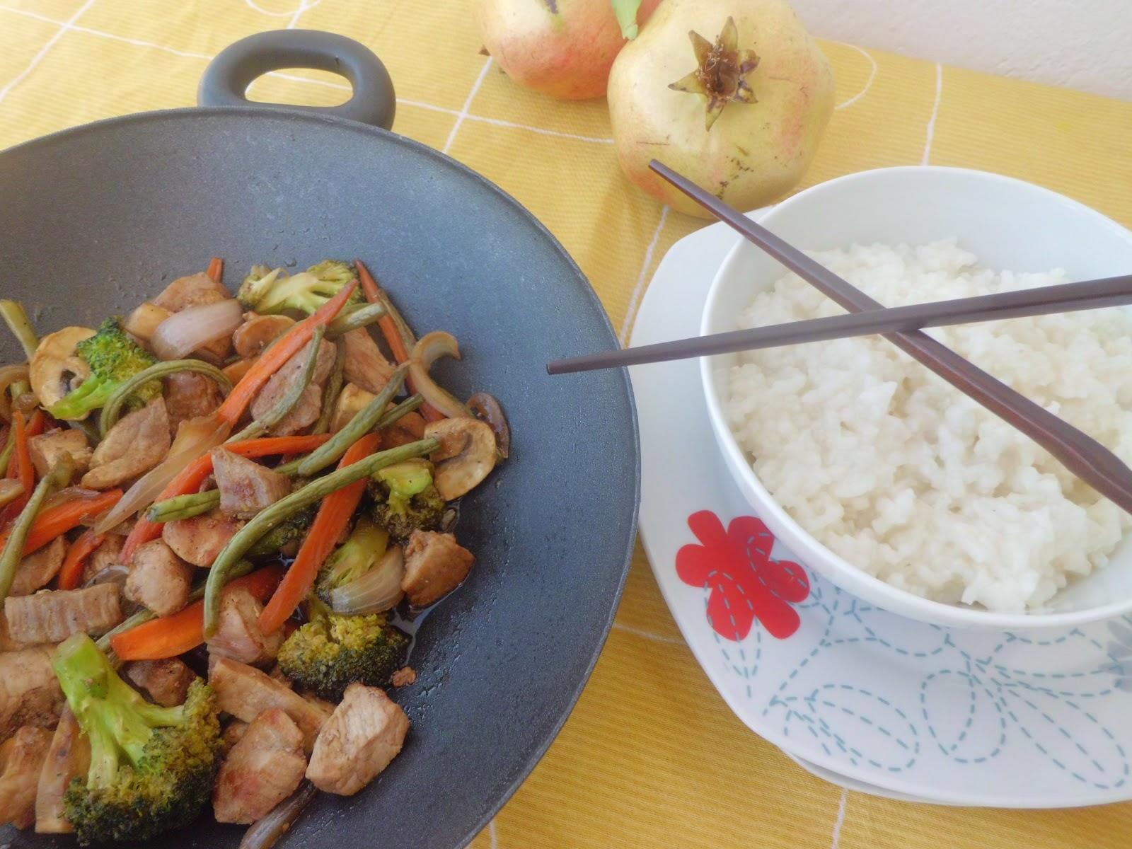 Mi adorable cocina wok de cerdo con verduras for Cocinar wok