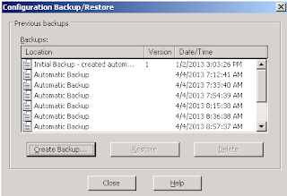 Create IIS Backup