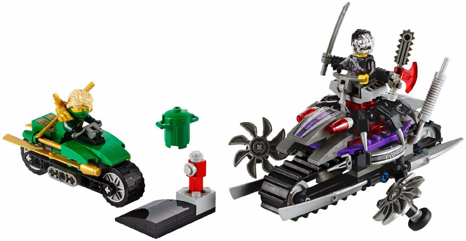 This set is with 207pcs, 2 vehicles - an all terrain tank bike and a