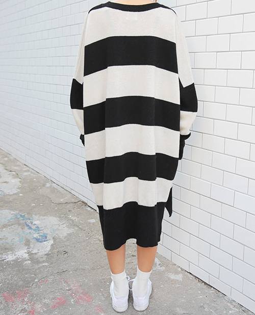 Extremely Loose Striped Dress