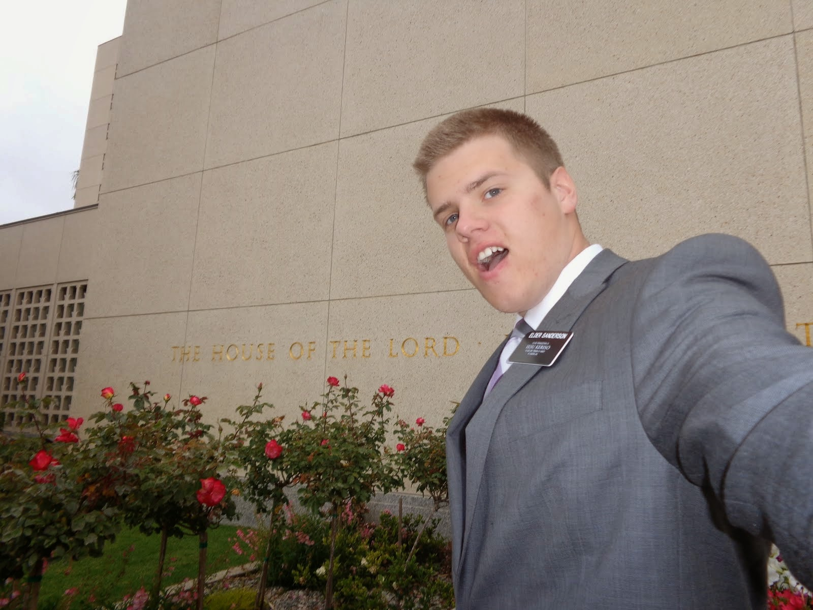 Elder Sanderson at the LA Temple