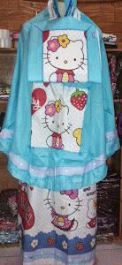 Mukena Anak Karakter Kitty Biru