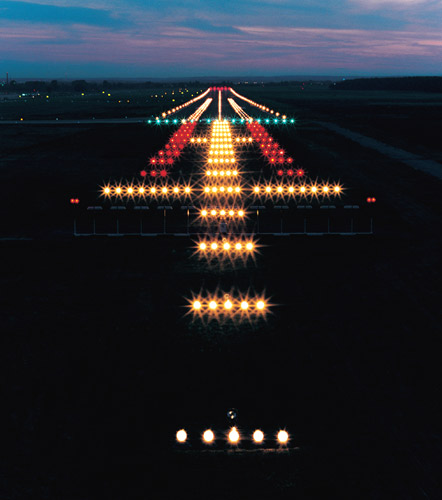 stop operations in periods of extremely low visibility runway lighting