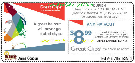 Free Printable Coupons Great Clips Coupons