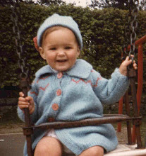 Me circa 1984 (knitting runs in the family)