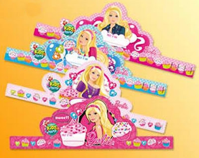 Jollibee party package - Barbie theme party hats