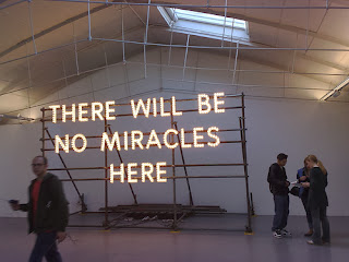 art, installation, no miracles here, belief, doubt