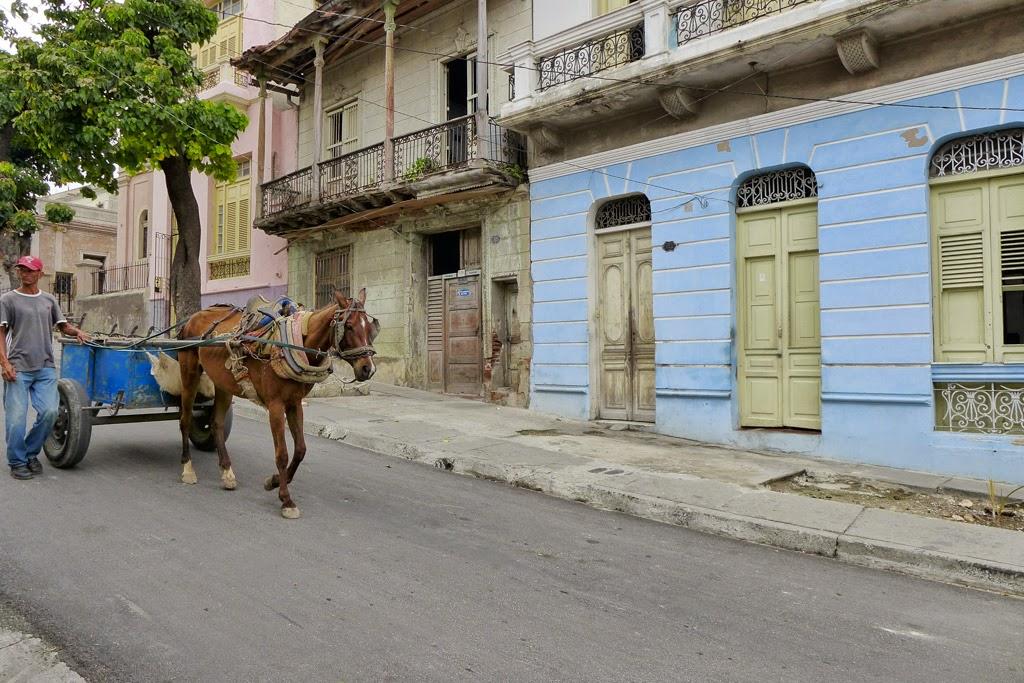 Santiago de Cuba horse-drawn cart