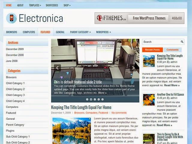 Electronia - Free Wordpress Theme