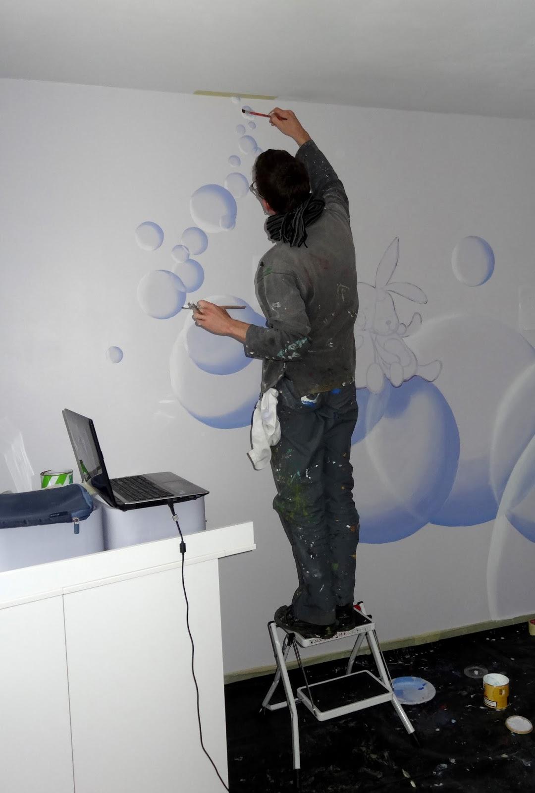 Artep peinture murale chambre d 39 enfant for Peinture chambre d enfant