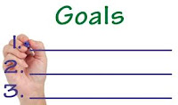 Write down goals, goals, charting out goals