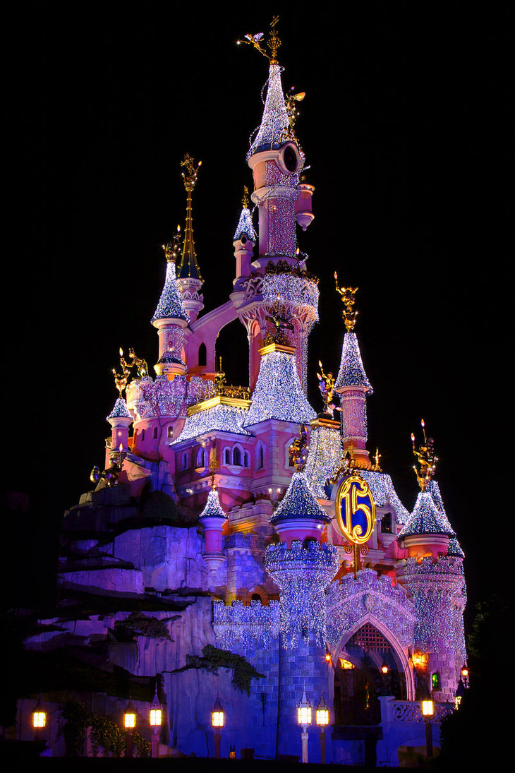 Disneyland Castle At Night Nice Places: Most beau...
