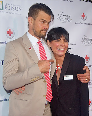 Josh Duhamel with peakPRgroup CEO Christine Peake, who Josh worked with on the Red Cross Runs for Haiti and Japan