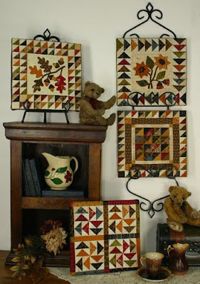 Little Quilts on Easels and Hangers