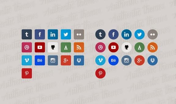 Flat Free Social Media Icon Set