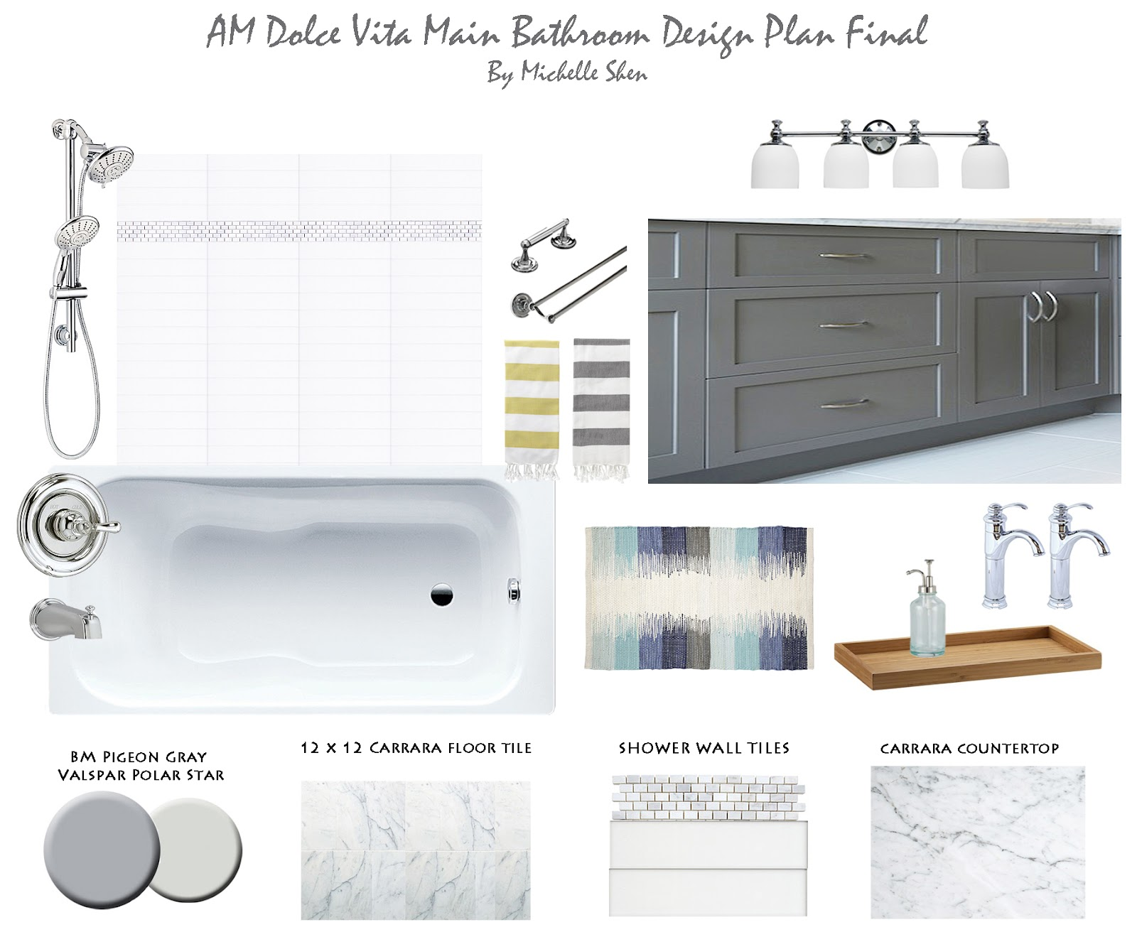 Bathroom Design Board am dolce vita: design boards
