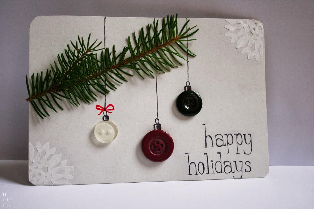 Diy Christmas Cards Earrings