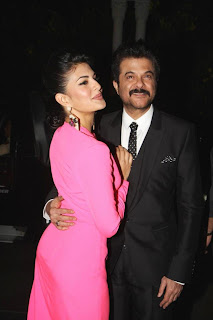 Jacquelene Fernandis and Anil Kapoor @ HTCafe Red Carpet