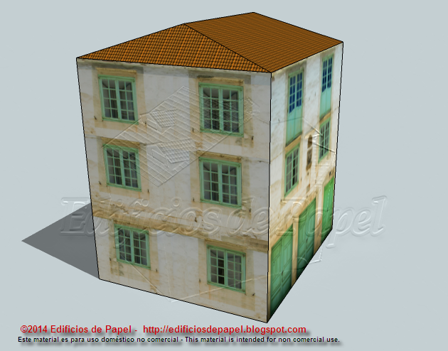 Emblazoned paper model for your model train scenery