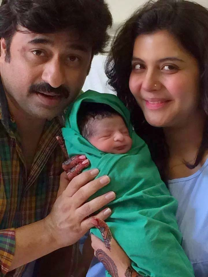 Nida Yasir yasir Nawaz With his New Born Son