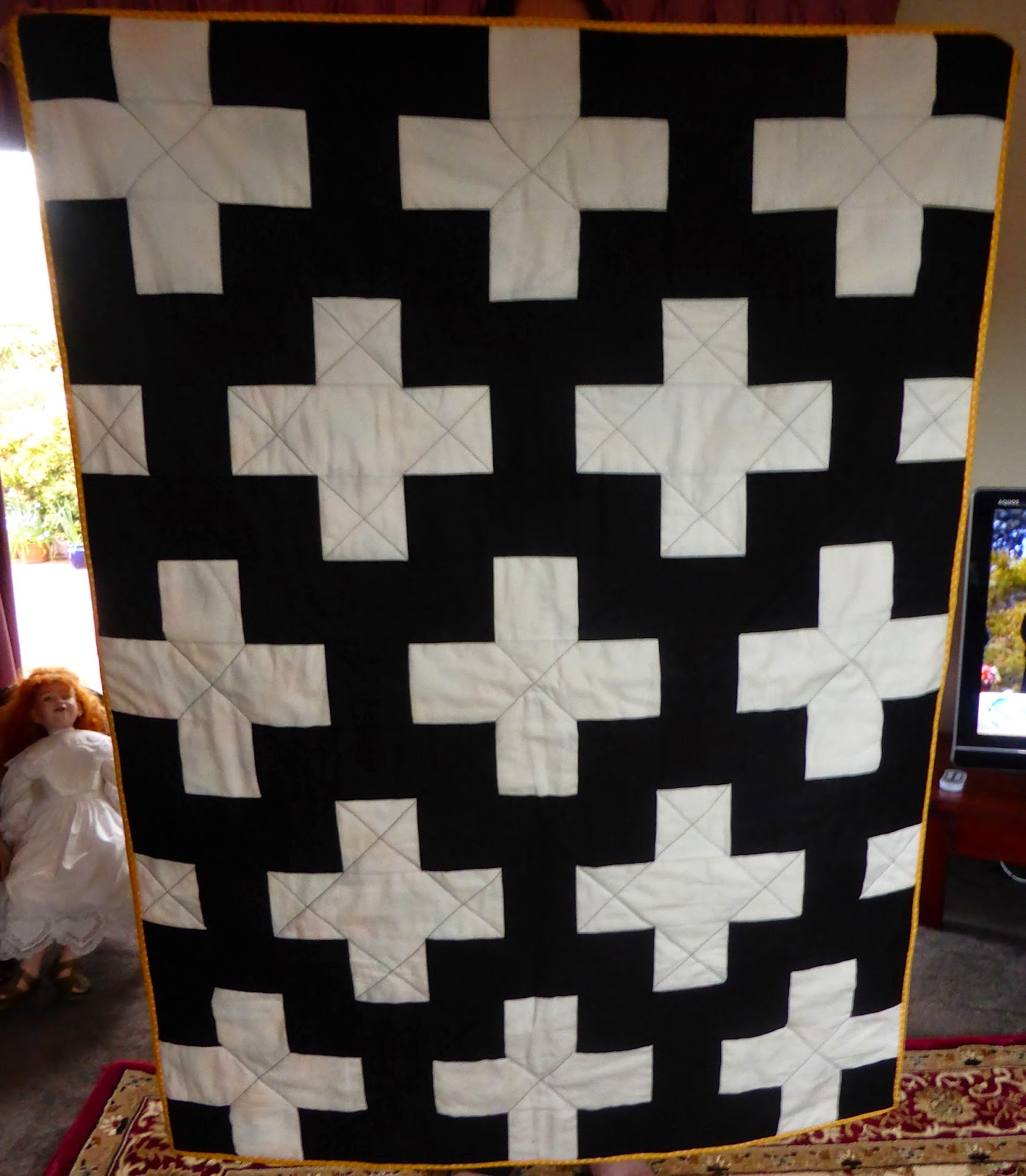 Vickis Fabric Creations Plus Sign Quilt
