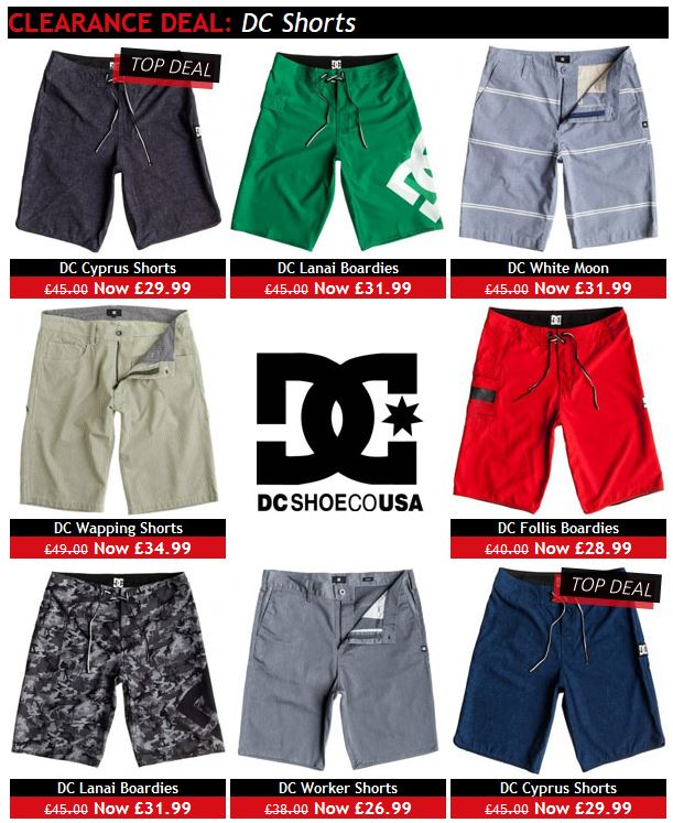 Cheap DC shorts