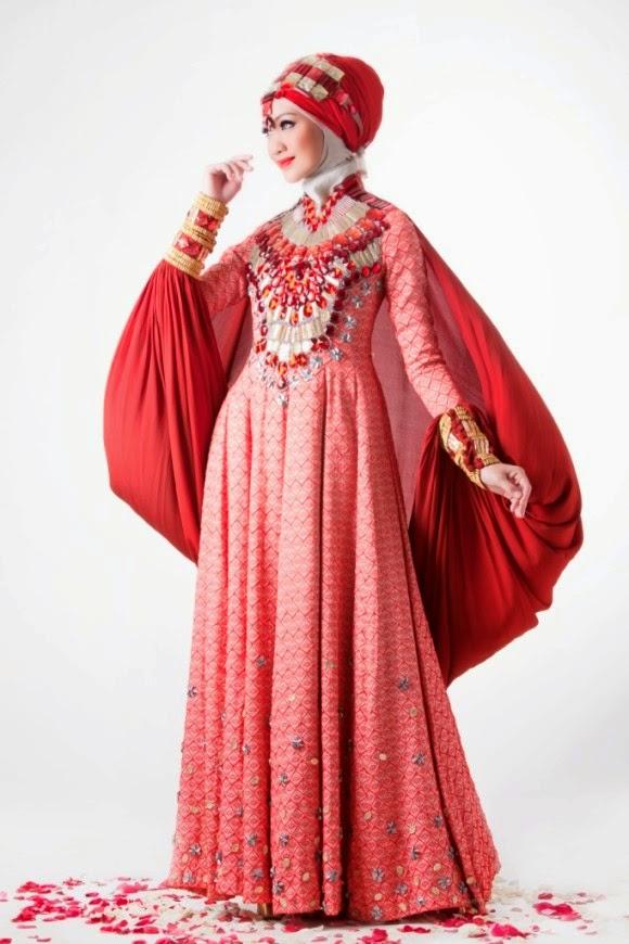 dress muslimah untuk pernikahan yang glamour
