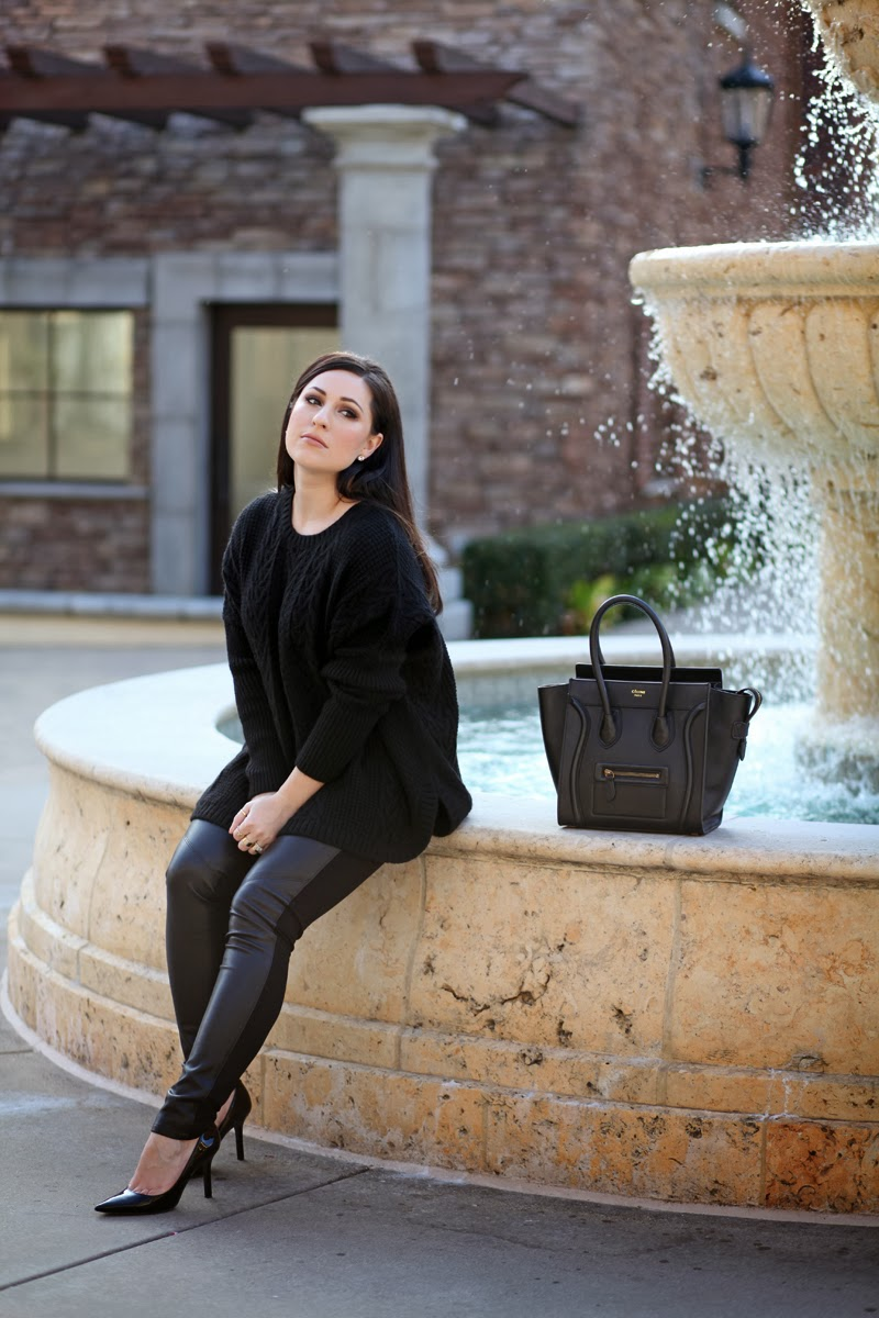 all-black-outfit-ideas-oversized-sweater-paige-faux-leather-leggings-celine-tote-beauty-blogger-king-and-kind-san-diego-style-bloggers