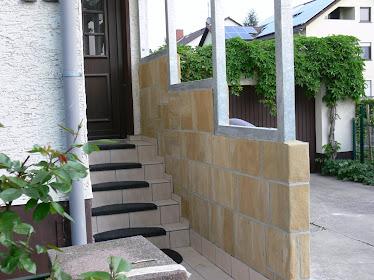 Mur d'escalier cote interieur
