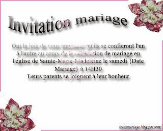 Fairs parts mariage
