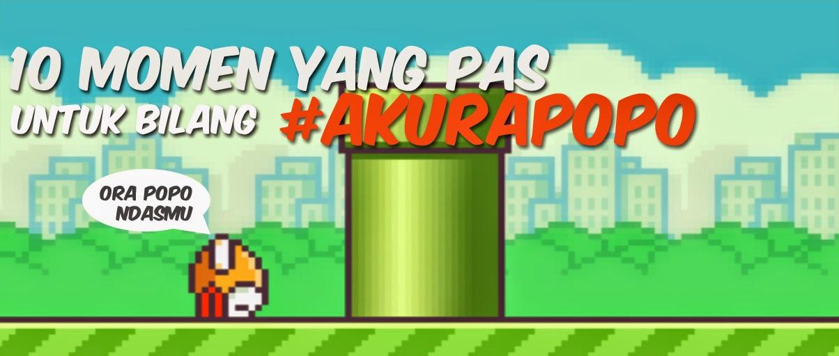 Momen Yang Pas Bilang #AkuRapopo