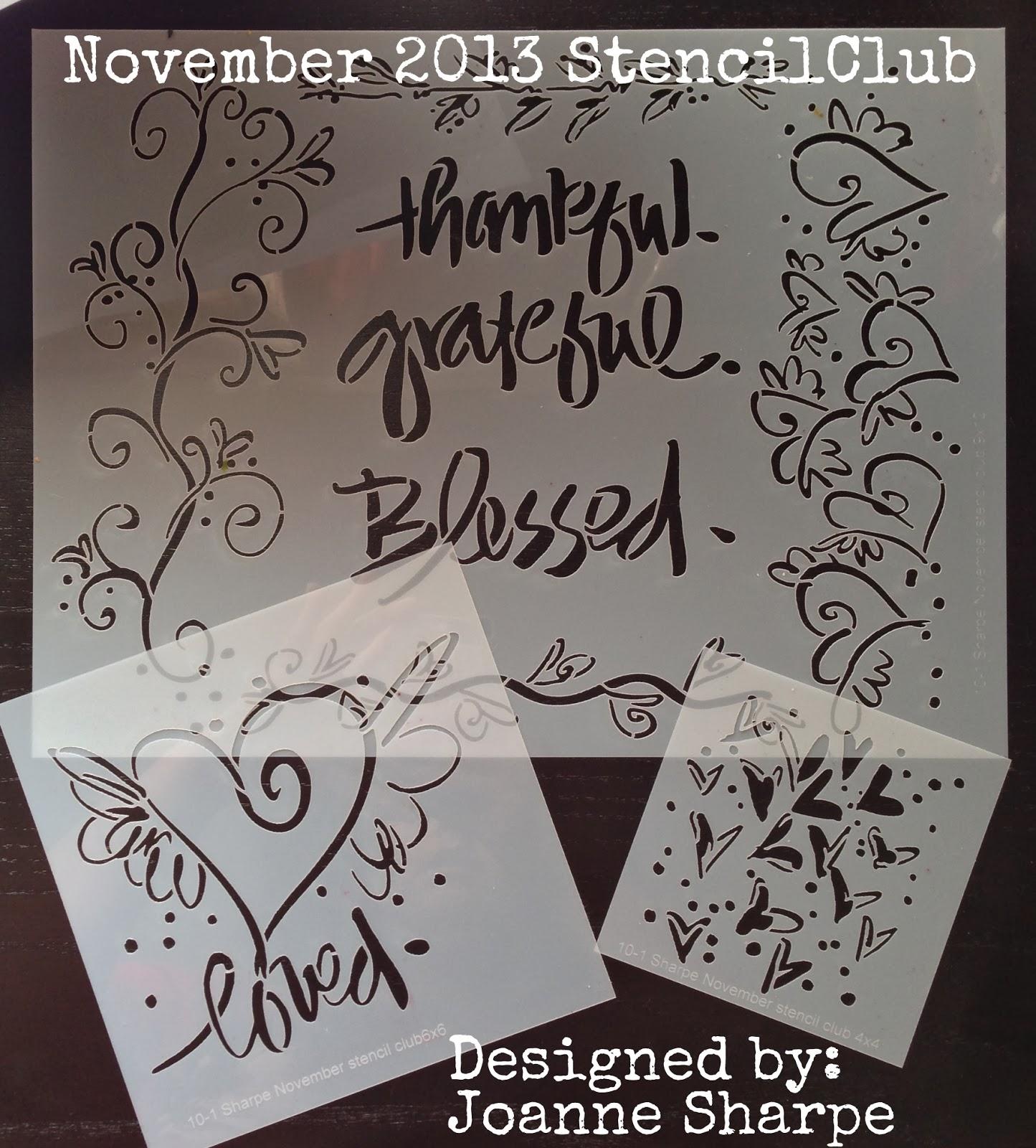 November 2013: StencilGirl Talk: StencilGirl StencilClub November 2013