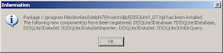 Компоненты DISQLite