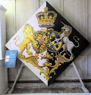 The hatchment displayed at Kew Palace  after Queen Charlotte's death