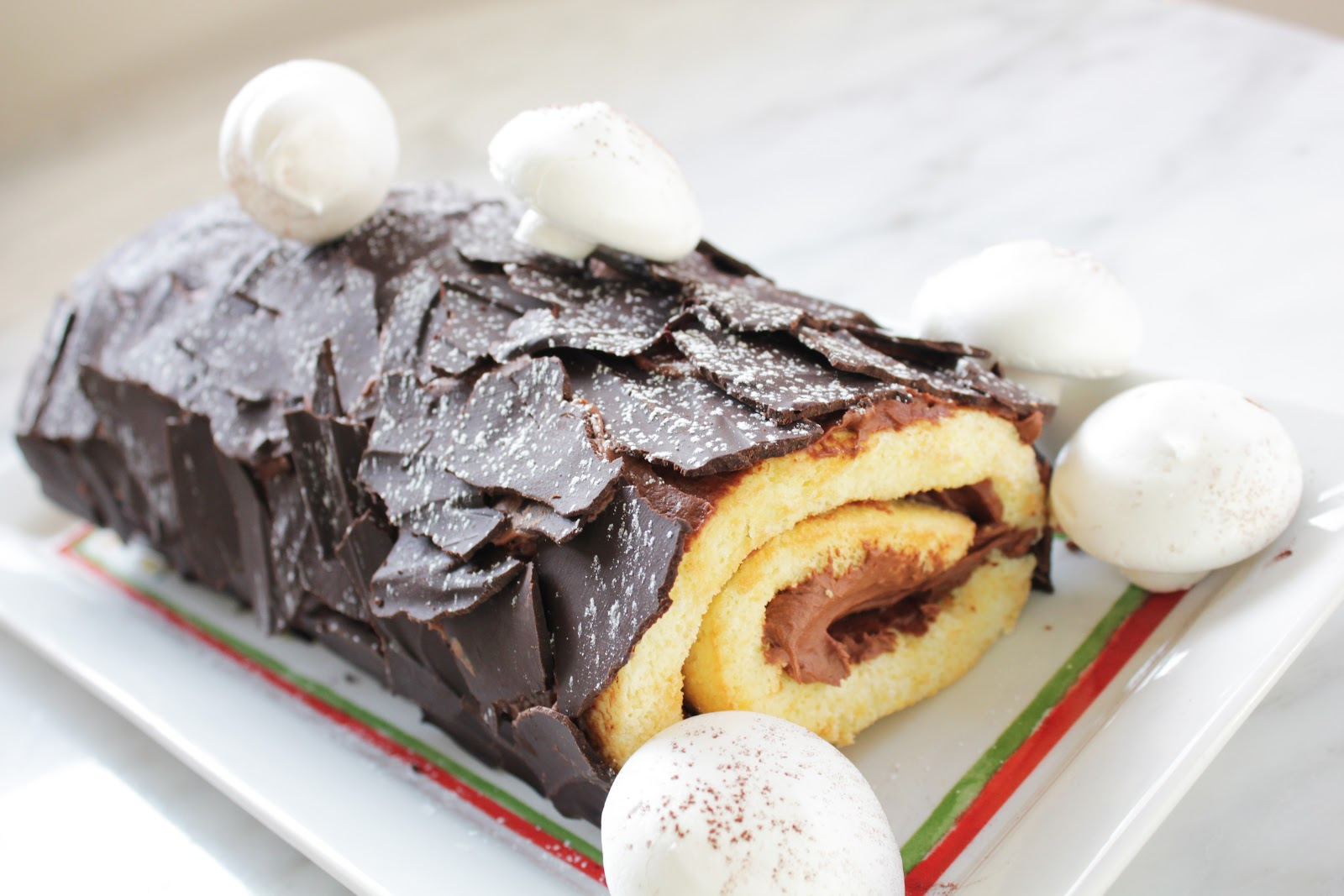 Buche de noel chocolate bark
